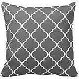 """SMTSMT Pillow Case Sofa Waist Throw Cushion Cover Home Decor-Gray (18""""x18""""/45cmx45cm)"""