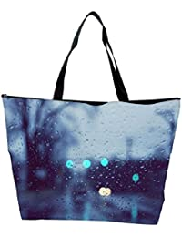 Snoogg Water Drops On The Window Designer Waterproof Bag Made Of High Strength Nylon