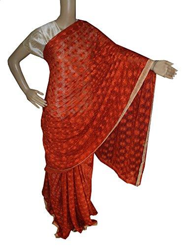 Beautiful RUDA Designer Phulkari Embroidered Saree-JS1129