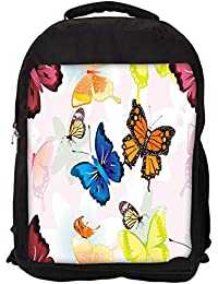 """Snoogg Abstract Butterflies Pattern Design Casual Laptop Backpak Fits All 15 - 15.6"""" Inch Laptops"""