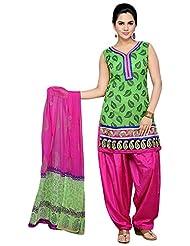 Roopali Creations Women's Chanderi Silk Patiala
