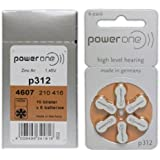 Power One Hearing Aid Battery Size 312,60 Batteries