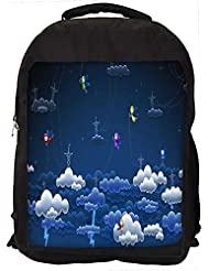 """Snoogg Clouds And Towers Casual Laptop Backpak Fits All 15 - 15.6"""" Inch Laptops"""