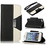 6S Cases,iPhone 6S Case Wallet For Women,Kaseberry [Wrist Strap] Premium PU Leather New Book Style Cards And Flip Case For IPhone 6S 4.7,Black