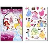 WeGlow International Princess 4 Sheet Tattoo Book (Set Of 3)