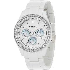 Fossil Womens ES1967 Stella Day/Date Display Quartz White Dial Watch