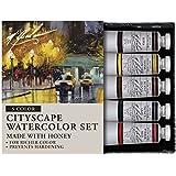 M. Graham Tube Watercolor Paint Cityscape 5-Color Set, 1/2-Ounce