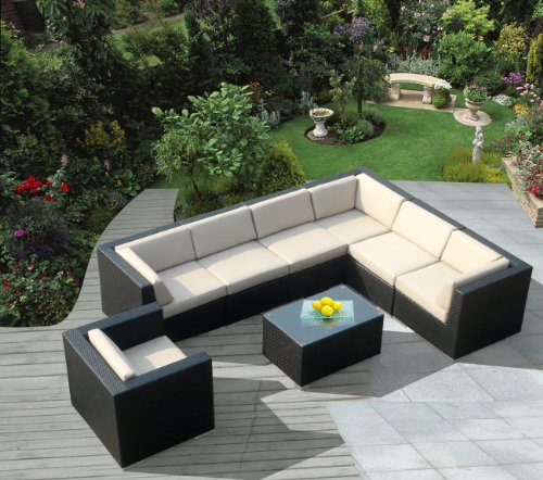 How Do You Want Ohana Collection Pn0803 8 Piece Outdoor Patio Sofa Sectional Wicker Furniture Couch Set Ceryswinterbbdo