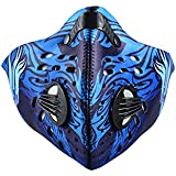 RockBros Designer Blue -Cycling Anti-dust Face Mask With Filter Activated Carbon Haze Mask Mouth Muffle Face Cover