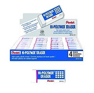 Amazon.com : Pentel Hi-Polymer Block Eraser, Small, Box of