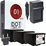 3x DOT-01 Brand 3200 MAh Replacement Canon BP-827 Batteries And Charger For Canon M300 Camcorder And Canon BP827