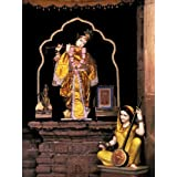 "Dolls Of India ""Krishna And Meerabai In The Meerabai Temple , Chittorgarh, Rajasthan"" Photographic Print - Unframed..."