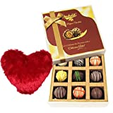Valentine Chocholik's Luxury Chocolates - Fall In Love With Truffles With Heart Pillow