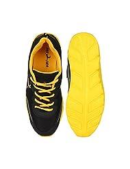 Randier Black Sports Shoes For Mens