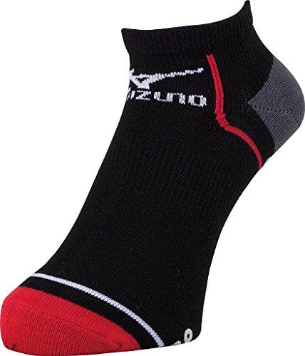 (ミズノ)MIZUNO レーシングソックス U2JX4002 96 ブラック×レッド 25-27