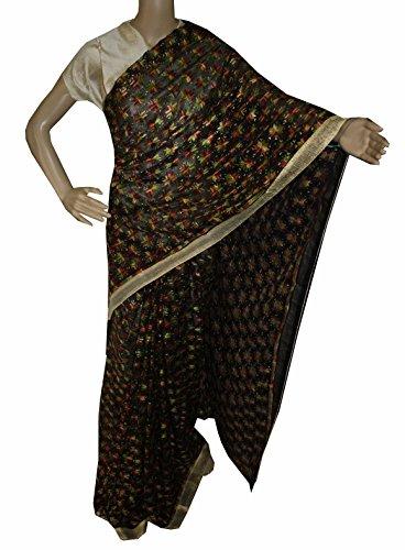 Beautiful RUDA Designer Phulkari Embroidered Saree-JS1094