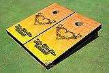Wedding Angel Heart Custom Cornhole Boards