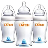 Latch BPA-Free Baby Bottle, 8 Ounce, 3 Pack