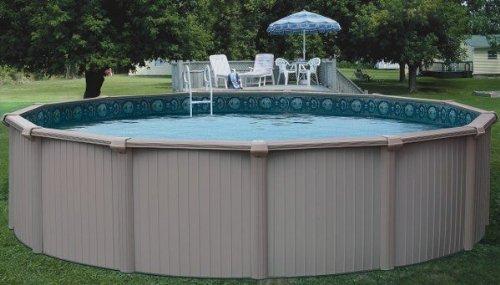 Bermuda 28 Feet Round 54 Inch Aluminum Pool