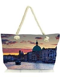 Snoogg Lake At Night Women Anchor Messenger Handbag Shoulder Bag Lady Tote Beach Bags Blue