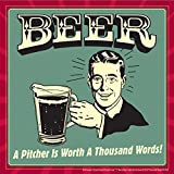 BCreative Beer A Pitcher Is Worth A Thousand Words (Officially Licensed) Poster Small 12 X 12 Inches