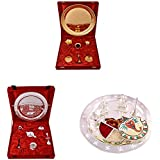 Gold Plated GL Pooja Thali Set,Silver Plated Royal Pooja Thali Set And Silver Plated Swastika Thali With Ganesh...