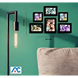 Aadinath Collection Individual Wall Photo Frame (6 Pcs Set Photo Frame Black Color) : ACPF-1115
