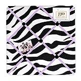 Purple Funky Zebra Fabric Memory/Memo Photo Bulletin Board