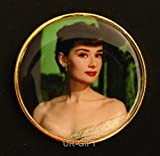 Goddess Audrey Hepburn Roman Holiday Stage Photo Princess Anne Colored 24k Gold Plated Commemorative Coin 1 Oz No.2