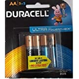 Duracell Alkaline Battery AA4 COMBO(2ultra +2normal) PACK OF 1 (4 Cell)