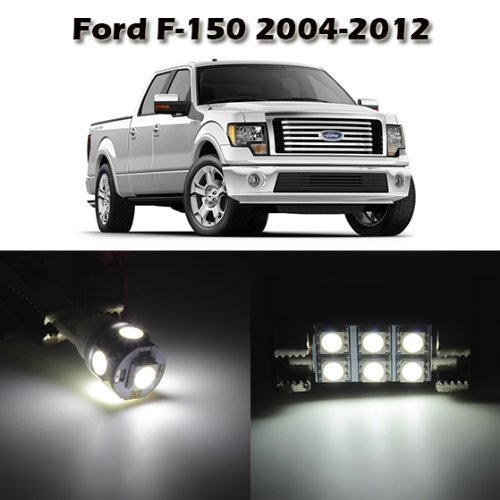 Partsam 10 White Interior Light Package for Ford F-150 2004 2005 2006 2007 2008 2009 2010 2011 2012 with Tool Kit