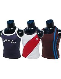 Men's Cotton Vest For Gym Wear Sport Wear & Sleeve Less Vest 100% Pure Cotton Pack Of 3 Pcs Size;Medcium Length...