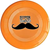 Orange, One Size : XJBD Unisex Happy Father's Day Super Father Gift Outdoor Game, Sport, Flying Discs, Game Room, Light Up Flying, Sport Disc , Flyer Frisbee, Ultra Star Yellow One Size