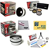 10 Piece Ultimate Lens Package For The Sony DCR-DVD650 SR68 SR88 SX44 SX63 SX83 SX85 Includes .43x High Definition...