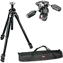Manfrotto MK290DUA3 Dual Travel Tripod Kit W 90 Column With 804 3-Way Pan Tilt Head And A Carry Case