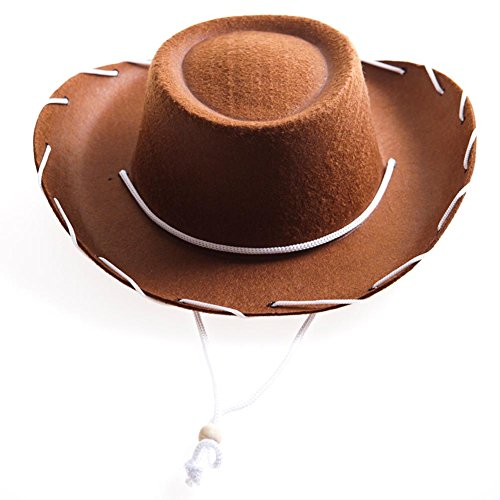 Childrens Brown Felt Cowboy Hat by Century Novelty by Century, brown, Size Small