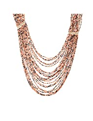 The Fine World Pine And Brass Peach And Brown Necklace For Women - B00PIOWDBC