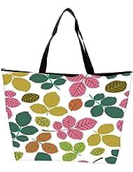 Snoogg Seamless Pattern With Leaf Waterproof Bag Made Of High Strength Nylon - B01I1KMUTO