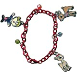 Rudolph The Red Nosed Reindeer Charm Bracelet With 3 Metal & 3 Ball Bead Charms