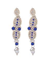 Bel-en-teno White & Blue Alloy Earring Set For Women