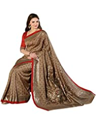 Gehna White And Black Floral Print Saree_GS_VF_11948