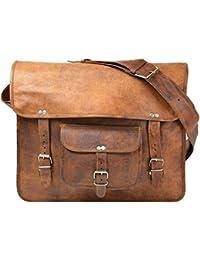 Leather Bag Genuine Brown Shoulder Messenger Passport Bag Murse Sling Bag Bag Cross Body Bag Man Purse Notebook...