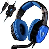 SADES A70 7.1 Virtual Surround Sound Stereo Gaming Headset Over-Ear With Microphone Volume Control And Breathing...