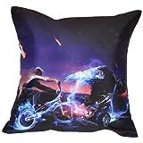 MeSleep Digital Print Bike And Car Cushion Cover - Purple