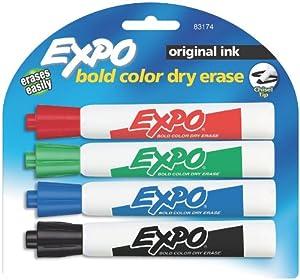 Amazon.com: Expo Original Chisel Tip Dry Erase Markers, 4