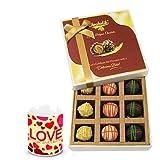 Ravishing Combo Treat Of Yummy Chocolates With Love Mug - Chocholik Luxury Chocolates