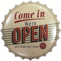 Magideal Vintage Metal Tin Sign Plaque Wall Art Poster Cafe Bar Pub Bottle Cap 23
