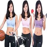 KARP Women's Genie Seamless Pastel Sports Bra With Removable Pads (Light Pink,Light Purple,Light Blue)-XXL Size...