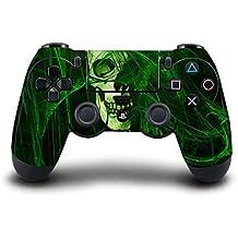 Elton PS4 Controller Designer 3M Skin For Sony PlayStation 4 , PS4 Slim , PS4 Pro DualShock Remote Wireless Controller (Set Of Two Controllers Skin) - Green Skull ( Green Black, Standard)