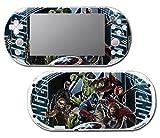 Avengers 3 Spider Man Hulk Iron Hawkeye Thor Black Widow Thanos Age of Ultron Video Game Vinyl Decal Skin Sticker Cover for Sony Playstation Vita Slim 2000 Series System